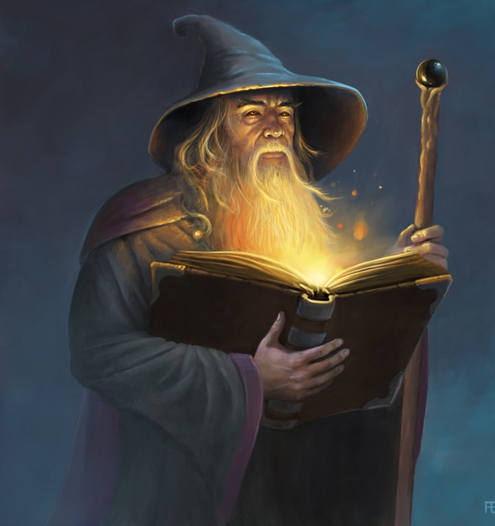 Picture of an all knowing wizard