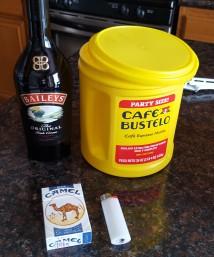 coffee baileys and smokes