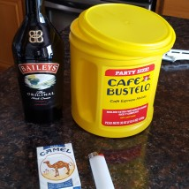 coffee baileys and smokes